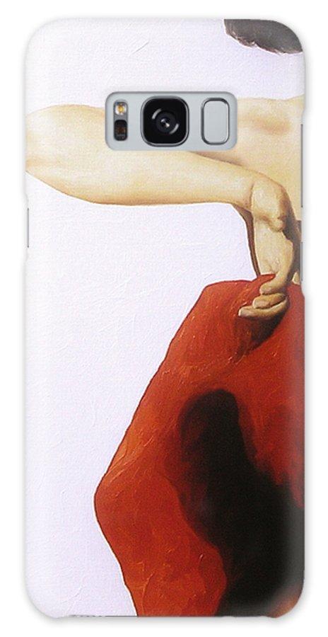 Woman Galaxy Case featuring the painting Flamenco Dancer 1 by Trisha Lambi