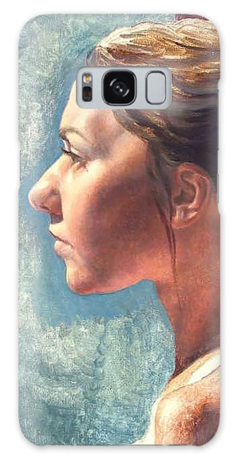 Portrait Galaxy Case featuring the painting Fresh Pose by Deborah Allison