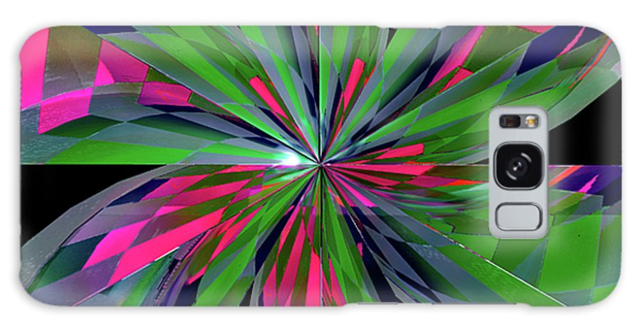 Abstract. Digital Galaxy S8 Case featuring the digital art Funky Asterisk by Anthony Caruso