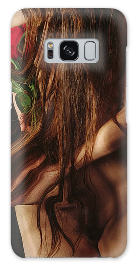 Female Nude Abstract Mirrors Flowers Photographs Galaxy Case featuring the photograph Kazi1181 by Henry Butz