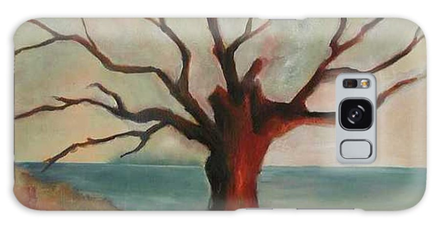 Oak Tree Inspired By Katrina Damage Along The Coast Galaxy S8 Case featuring the painting Lone Oak - Gulf Coast by Deborah Allison