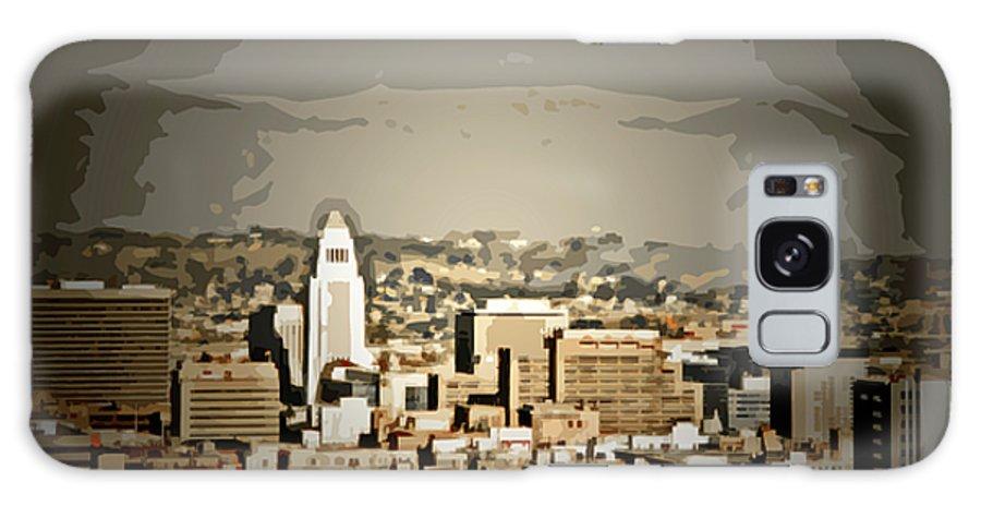 La City Hall Galaxy S8 Case featuring the digital art Los Angeles City Hall by Chris Brannen