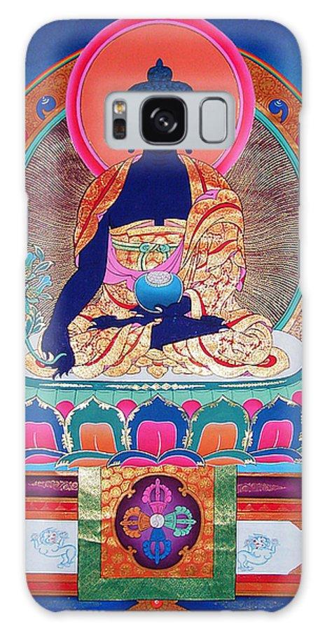 The Pharmacist Glass Light Tathagata Galaxy S8 Case featuring the photograph Medicine Buddha 11 by Jeelan Clark