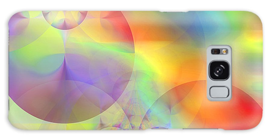 Abstract Galaxy Case featuring the digital art Mind Over Matter by Ruth Palmer