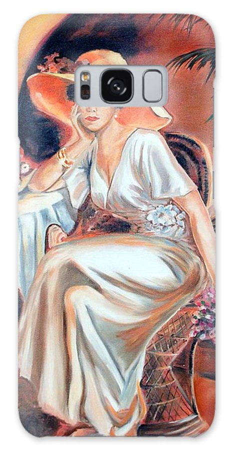 Woman Galaxy S8 Case featuring the painting Patience In Beauty by Margaret Fortunato