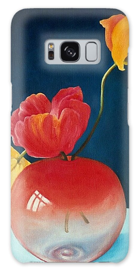 Still Life Galaxy Case featuring the painting Poppies by Trisha Lambi