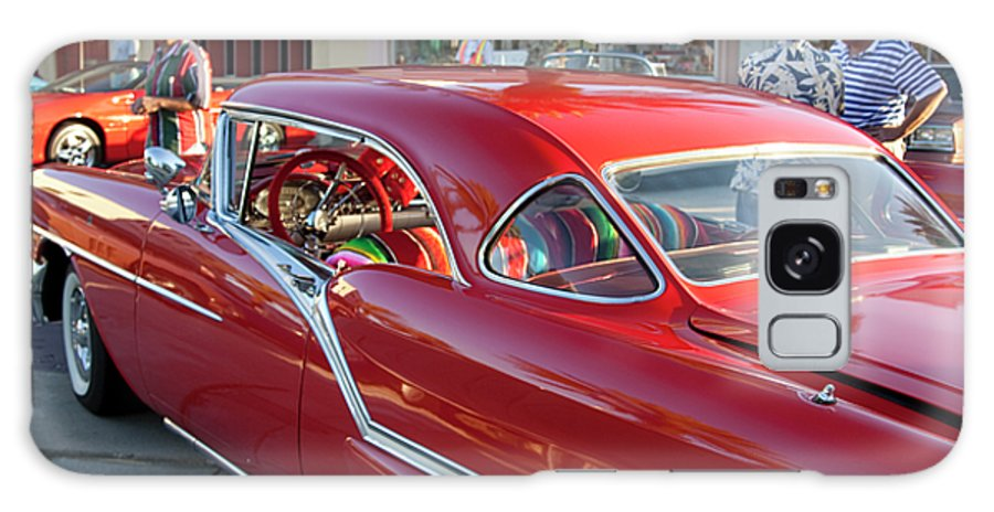 Car Galaxy S8 Case featuring the photograph Red Chevrolet by Carl Purcell