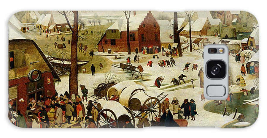 The Galaxy S8 Case featuring the painting The Census At Bethlehem by Pieter the Younger Brueghel
