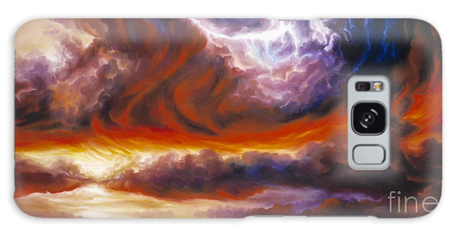 Tempest Galaxy S8 Case featuring the painting The Tempest by James Christopher Hill