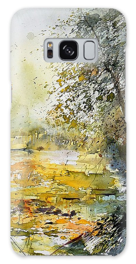 Water Galaxy Case featuring the painting Watercolor 050906 by Pol Ledent