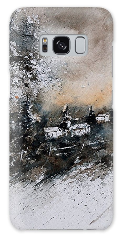Winter Galaxy S8 Case featuring the painting Watercolor 121206 by Pol Ledent