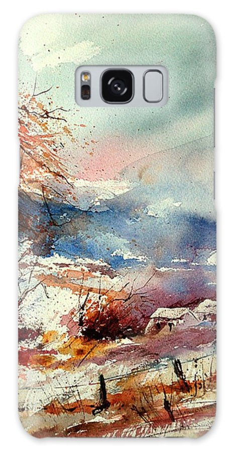 Winter Galaxy Case featuring the painting Watercolor 221108 by Pol Ledent