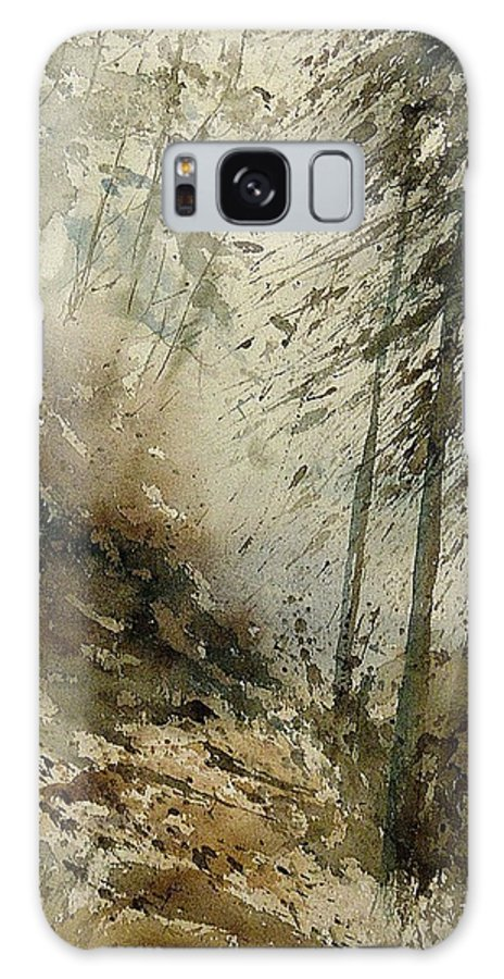Tree Galaxy Case featuring the painting Watercolor 271005 by Pol Ledent