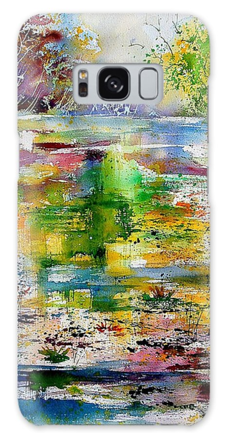 Water Galaxy Case featuring the painting Watercolor 6878 by Pol Ledent