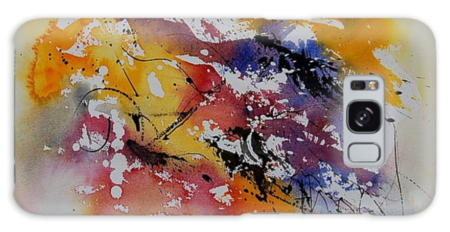 Abstract Galaxy S8 Case featuring the painting Watercolor 902022 by Pol Ledent