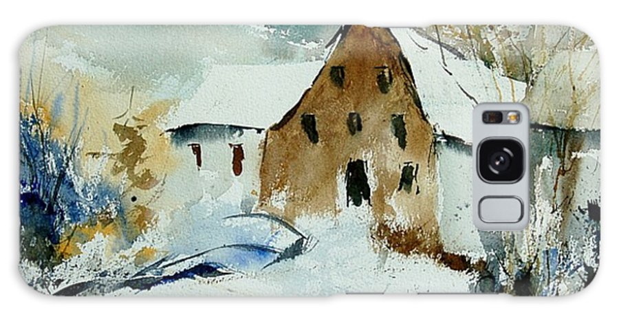 Winter Galaxy Case featuring the painting Watercolor 9696 by Pol Ledent