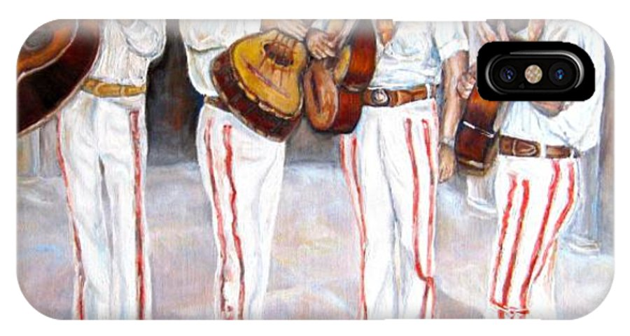 Mariachis IPhone Case featuring the painting Mariachi Musicians by Carole Spandau