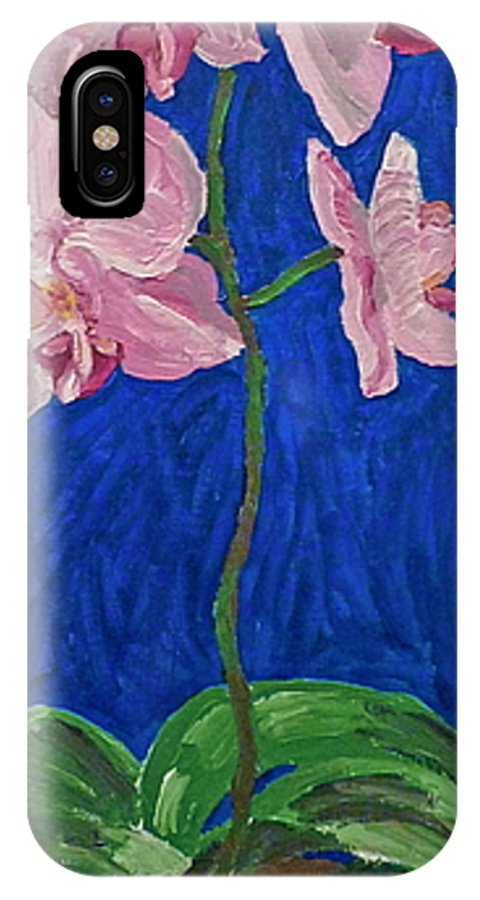 Orchid IPhone X Case featuring the painting Orchids by Joshua Redman