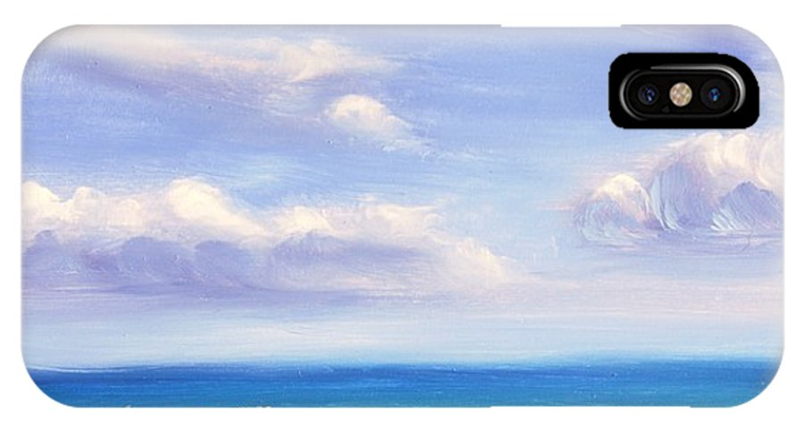 Oil IPhone X Case featuring the painting Anchored Away by Greg Neal