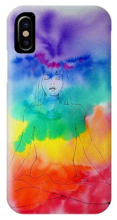 Colour IPhone Case featuring the painting Colour Meditation by Janice Gell