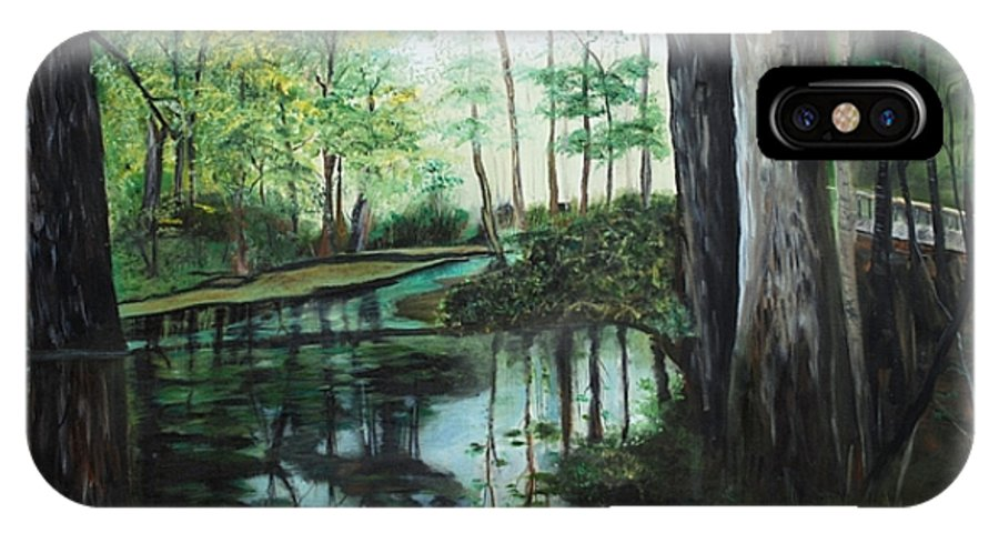 Landscape IPhone Case featuring the painting Ginny Springs by Margaret Fortunato
