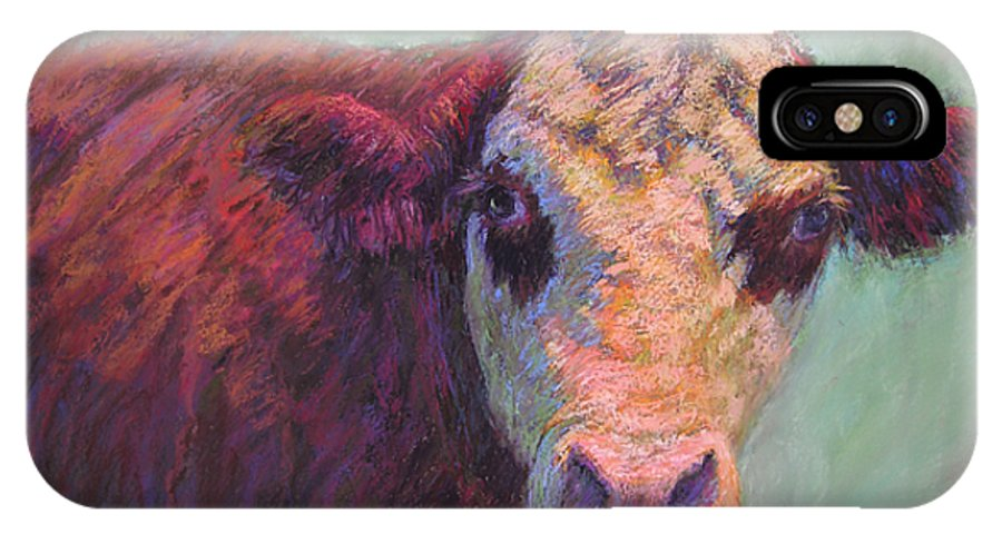 Farm Animals IPhone X Case featuring the painting Guardian by Susan Williamson