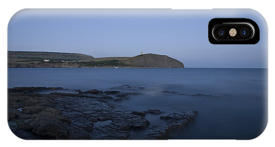 Kimmeridge IPhone X Case featuring the photograph Kimmeridge Bay At Dusk In Dorset by Ian Middleton