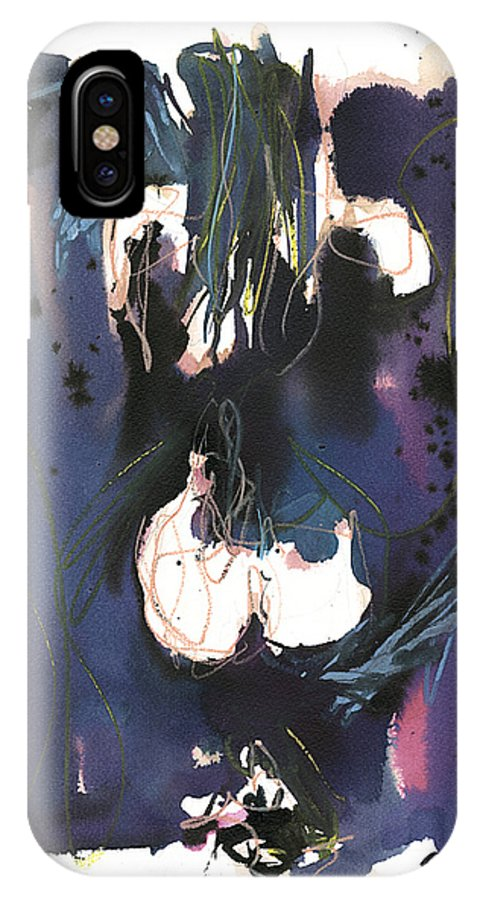 Figure IPhone Case featuring the painting Kneeling by Robert Joyner