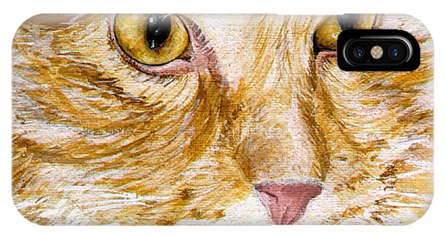 Charity IPhone Case featuring the painting Leo by Mary-Lee Sanders