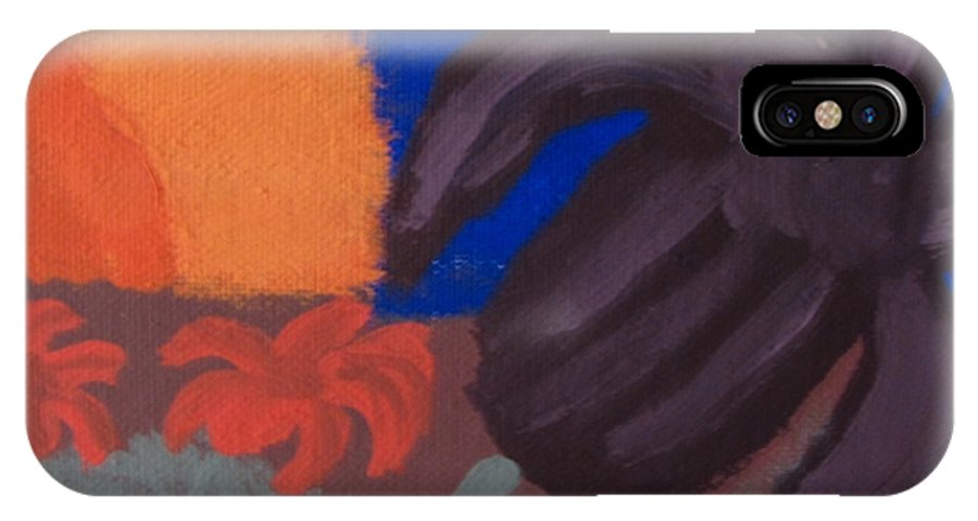 Lilly IPhone X / XS Case featuring the painting Lillies In The Sunset by Melissa Parks