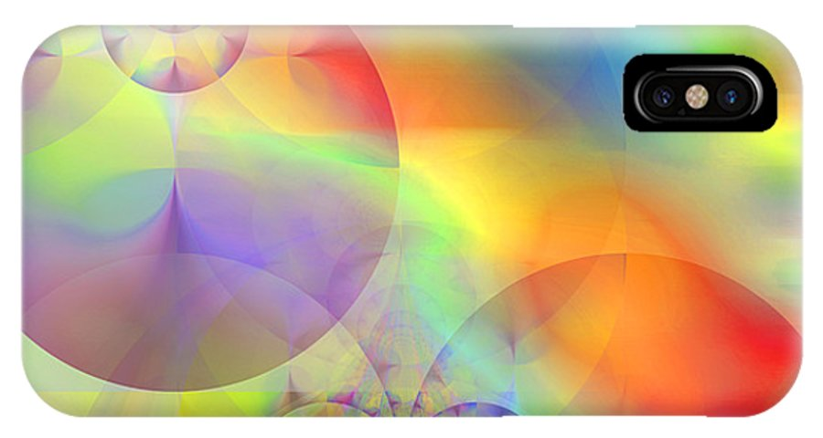 Abstract IPhone X Case featuring the digital art Mind Over Matter by Ruth Palmer