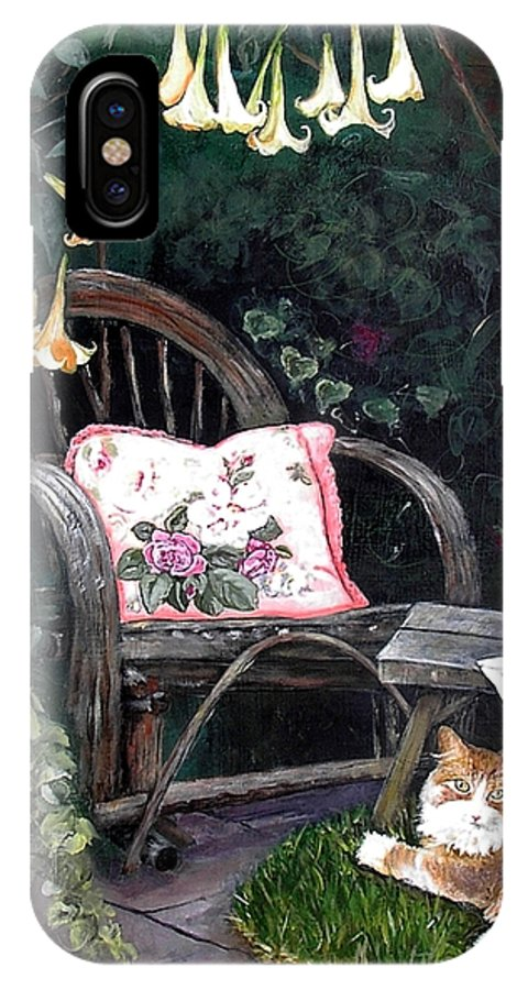 Charity IPhone Case featuring the painting My Secret Garden by Mary-Lee Sanders