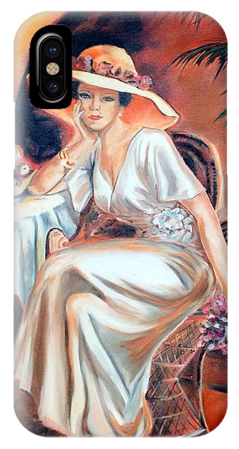 Woman IPhone Case featuring the painting Patience In Beauty by Margaret Fortunato