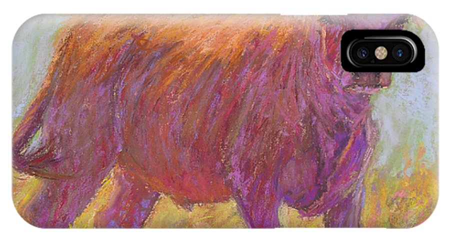 Cows IPhone Case featuring the painting The Scout by Susan Williamson