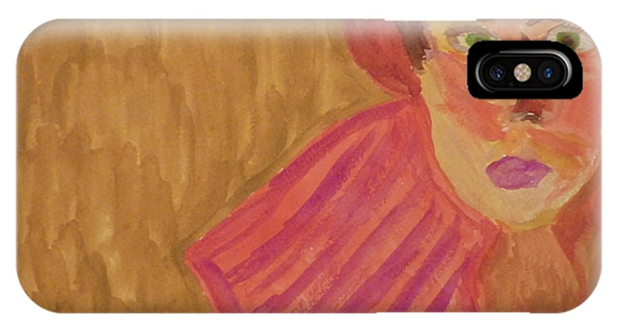 Woman IPhone X Case featuring the painting The Woman In Red by Joshua Redman