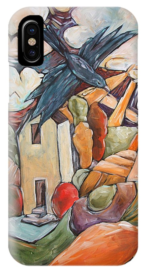 Crow IPhone Case featuring the painting Threads Of Wicker by Chad Elliott