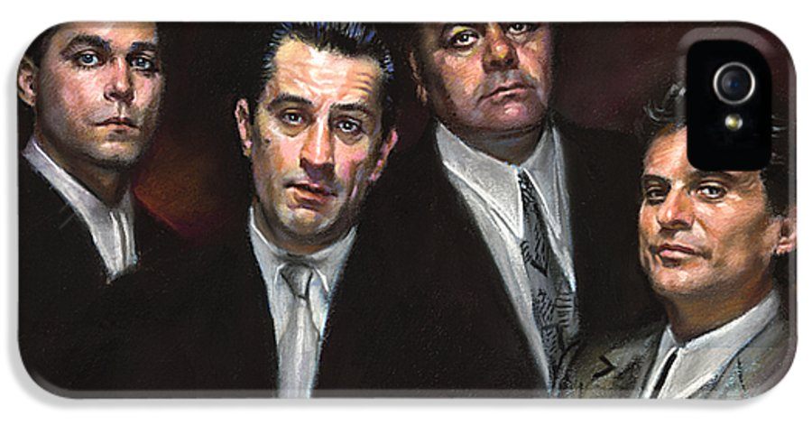 Goodfellas IPhone 5 Case featuring the pastel Goodfellas by Ylli Haruni
