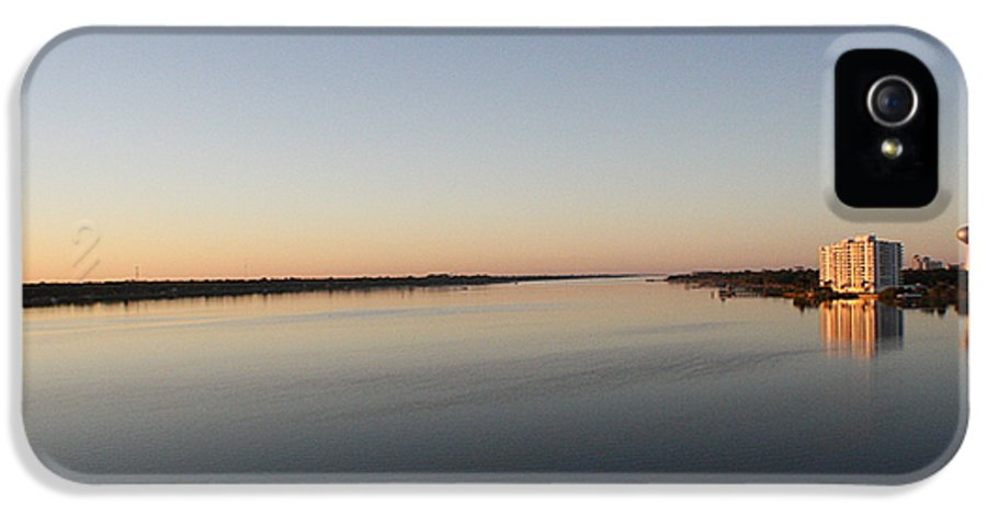 Halifax River IPhone 5 Case featuring the photograph Halifax River Sunset by Mandy Shupp