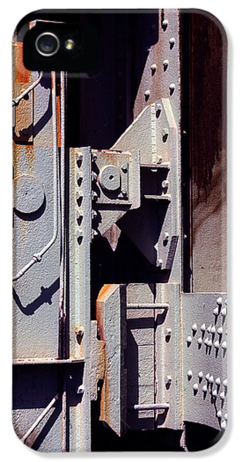 Abstract IPhone 5 Case featuring the photograph Industrial Background by Carlos Caetano