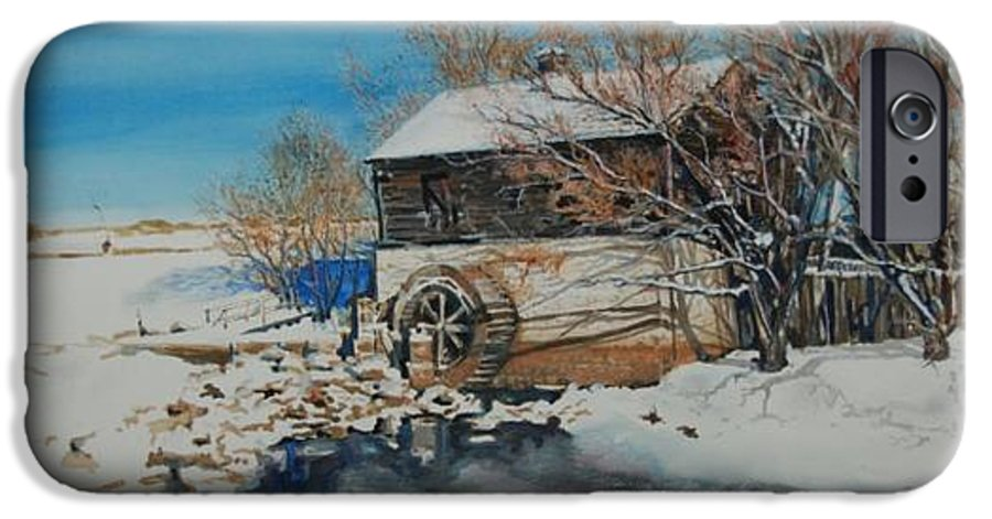 Mill IPhone 6 Case featuring the painting Grants Old Mill by Susan Moore