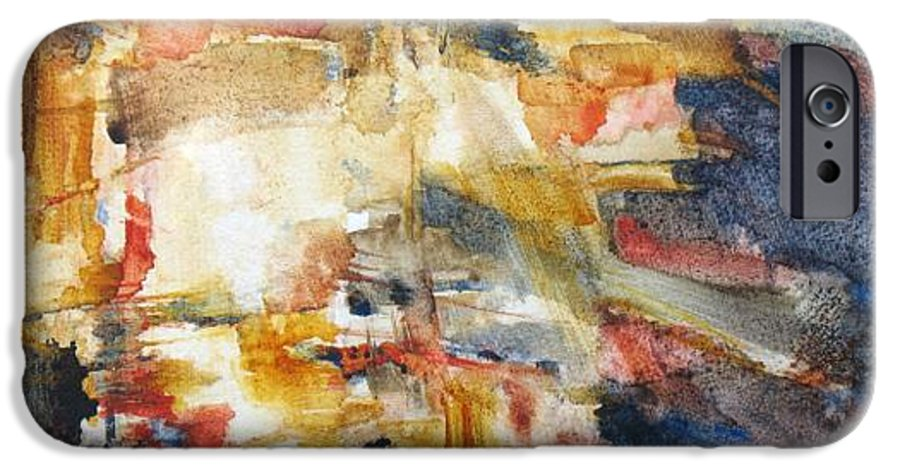 Abstract IPhone 6 Case featuring the painting Illumination by Juanita Hagberg