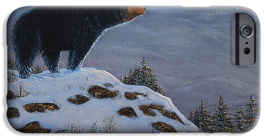 Wildlife IPhone 6 Case featuring the painting Last Look Black Bear by Frank Wilson