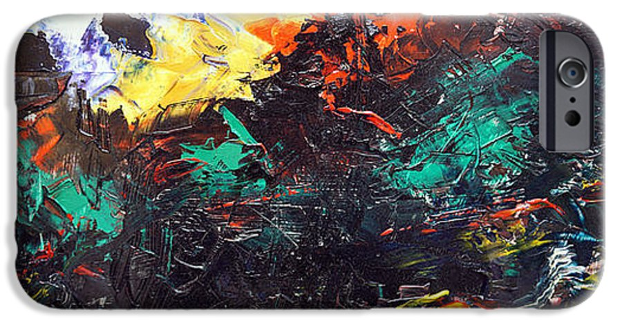 Vision IPhone 6 Case featuring the painting Schizophrenia by Sergey Bezhinets