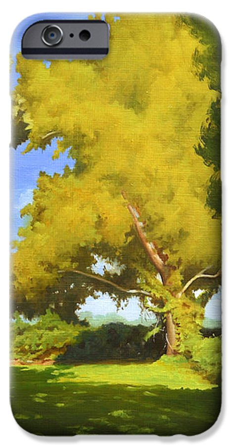 Sycamore Tree IPhone 6 Case featuring the painting Sycamore by Gary Hernandez