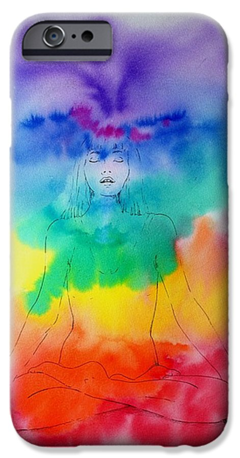 Colour IPhone 6 Case featuring the painting Colour Meditation by Janice Gell