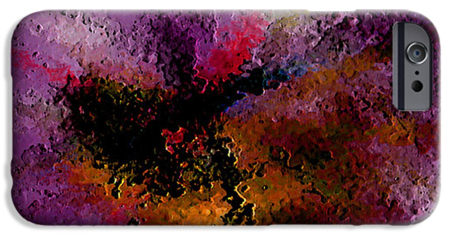 Abstract IPhone 6 Case featuring the digital art Damaged But Not Broken by Ruth Palmer