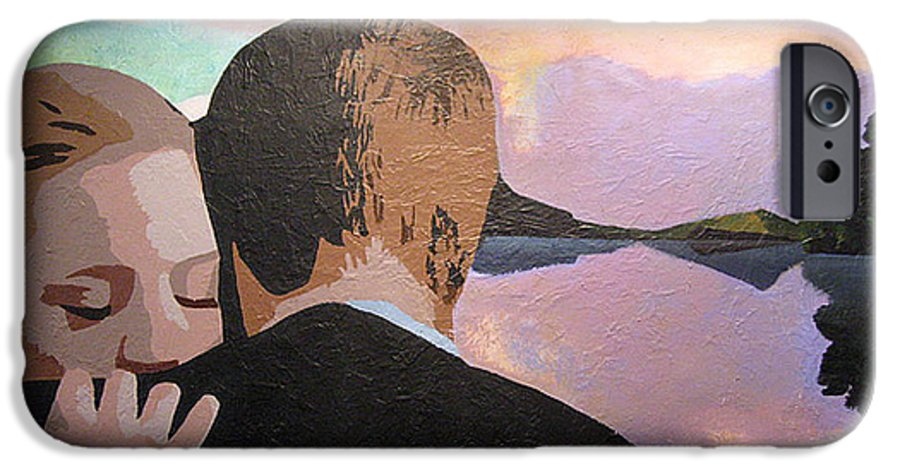 Goodbye IPhone 6 Case featuring the painting Figures In A Landscape by Geoff Greene