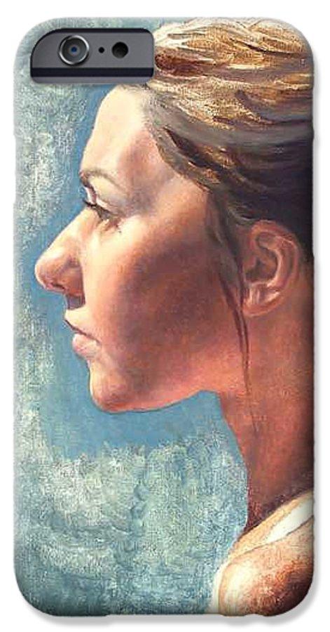Portrait IPhone 6 Case featuring the painting Fresh Pose by Deborah Allison
