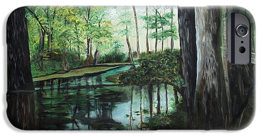 Landscape IPhone 6 Case featuring the painting Ginny Springs by Margaret Fortunato