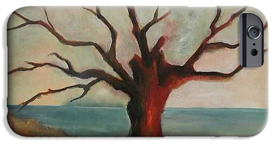 Oak Tree Inspired By Katrina Damage Along The Coast IPhone 6 Case featuring the painting Lone Oak - Gulf Coast by Deborah Allison